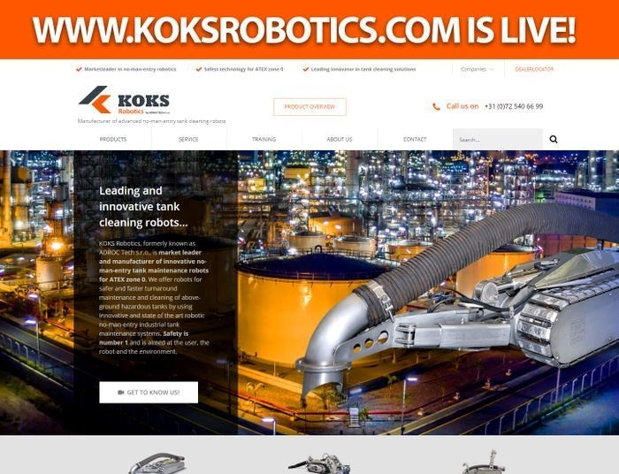 koks robotics website live 11 03 2020